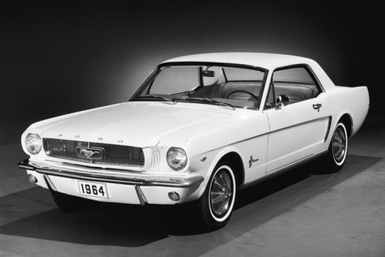 Ford Mustang Car Produced By Ford Motor Company 1964