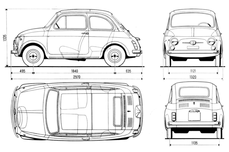 500 Fiat Practical Town Car 1957 1975 Products Designindex