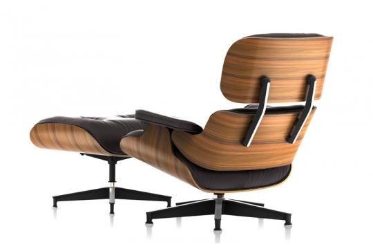 Eames Lounge Chair Compensato Stampato E Pelle